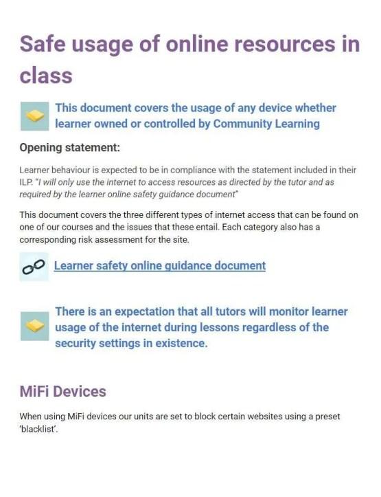 safe use of online