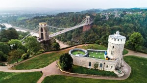 Clifton Suspension Bridge and the Observatory in Bristol