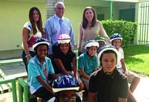 Town provides bike helmets to students who need them