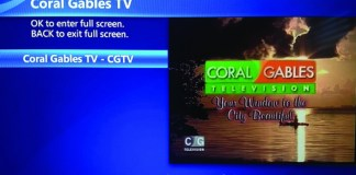 Coral Gables Television (CGTV) now available for U-verse users