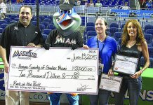 Marlins host event at game to benefit animal adoption