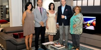 Roche Bobois ad Forida Design magazine host interior designers at Aventura showroom