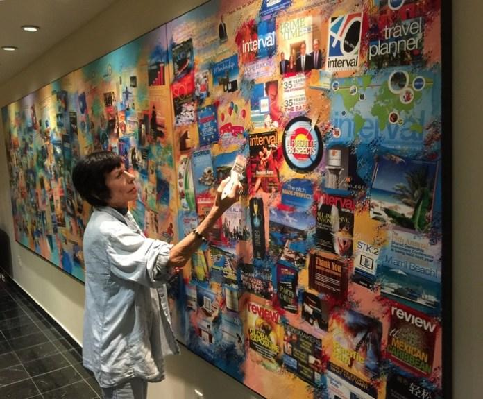 Erika King creates art celebrating Interval International's 40 years