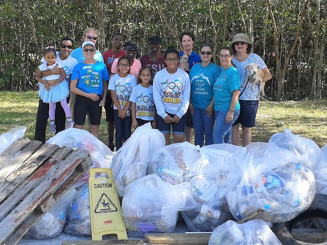 Whigham Elementary joins other schools in cleanup of wetlands