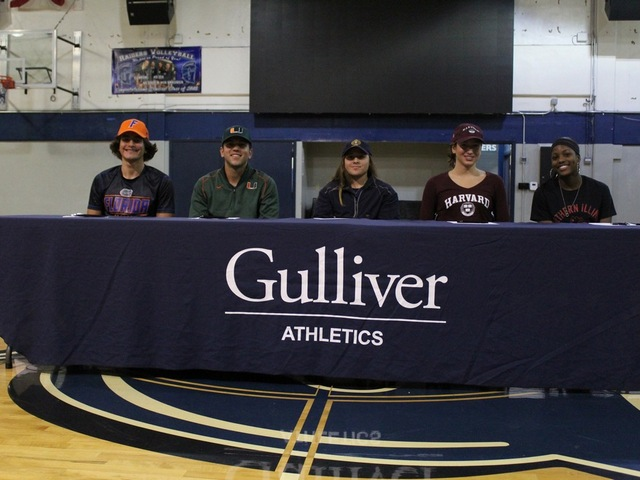 Gulliver Prep. student-athletes commit early to play sports at collegiate level