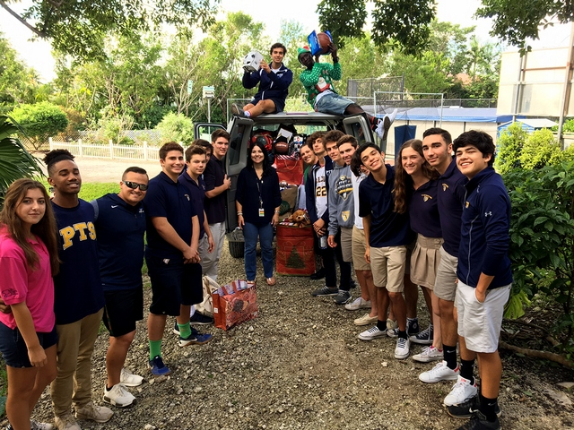 PTS students collected more than 800 toys and gift cards to benefit children and families in need.