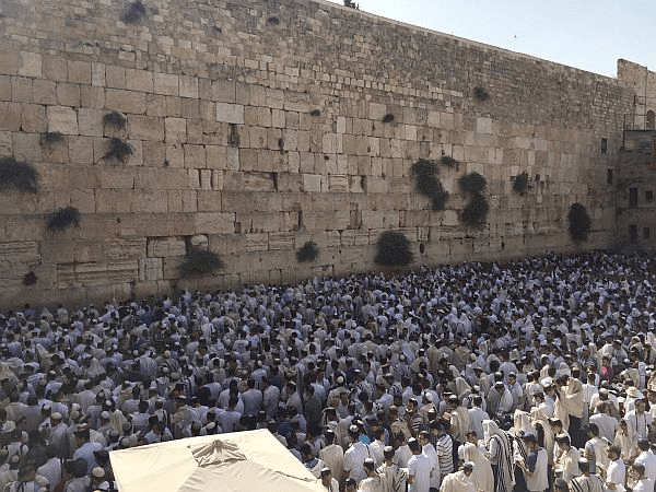 Thousands come to pray at the Kotel (Western Wall) in Jerusalem every day.