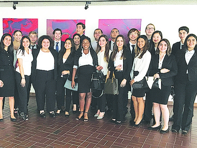 Killian students perform admirably at district constitutional competition
