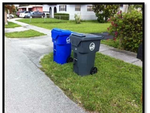 Proper placement of Garbage and Recycing Carts Curbside