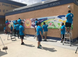 AT&T employees join City Year to give local school a facelift