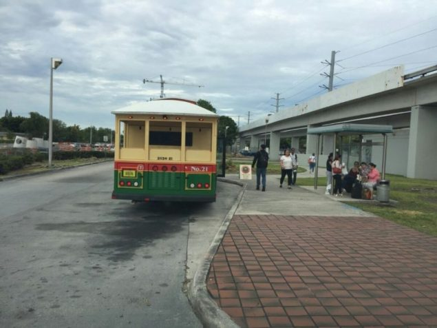 Trolley's Douglas Station stop has changed location