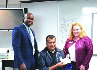 Aventura Police Dept. recognize Ofc. Caceres