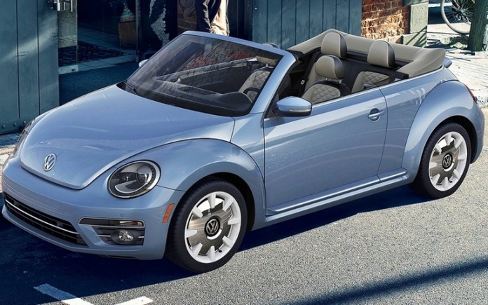 This is the last year to get a VW Beetle Convertible