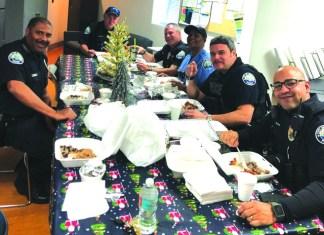 Aventura Police enjoy holiday meals