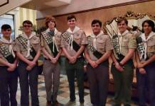Troop 457 Scouts inducted into Eagle Court of Honor