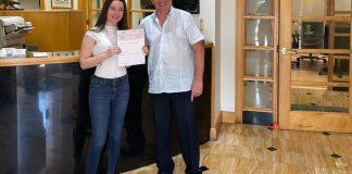 Panter, Panter, & Sampedro awards scholarship to Killian High student