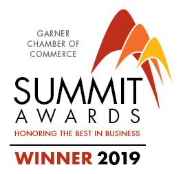 Garner Chamber of Commerce Summit Award Winner