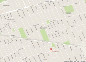 map of address 5465 Reginald, Unit 2, Windsor, ON
