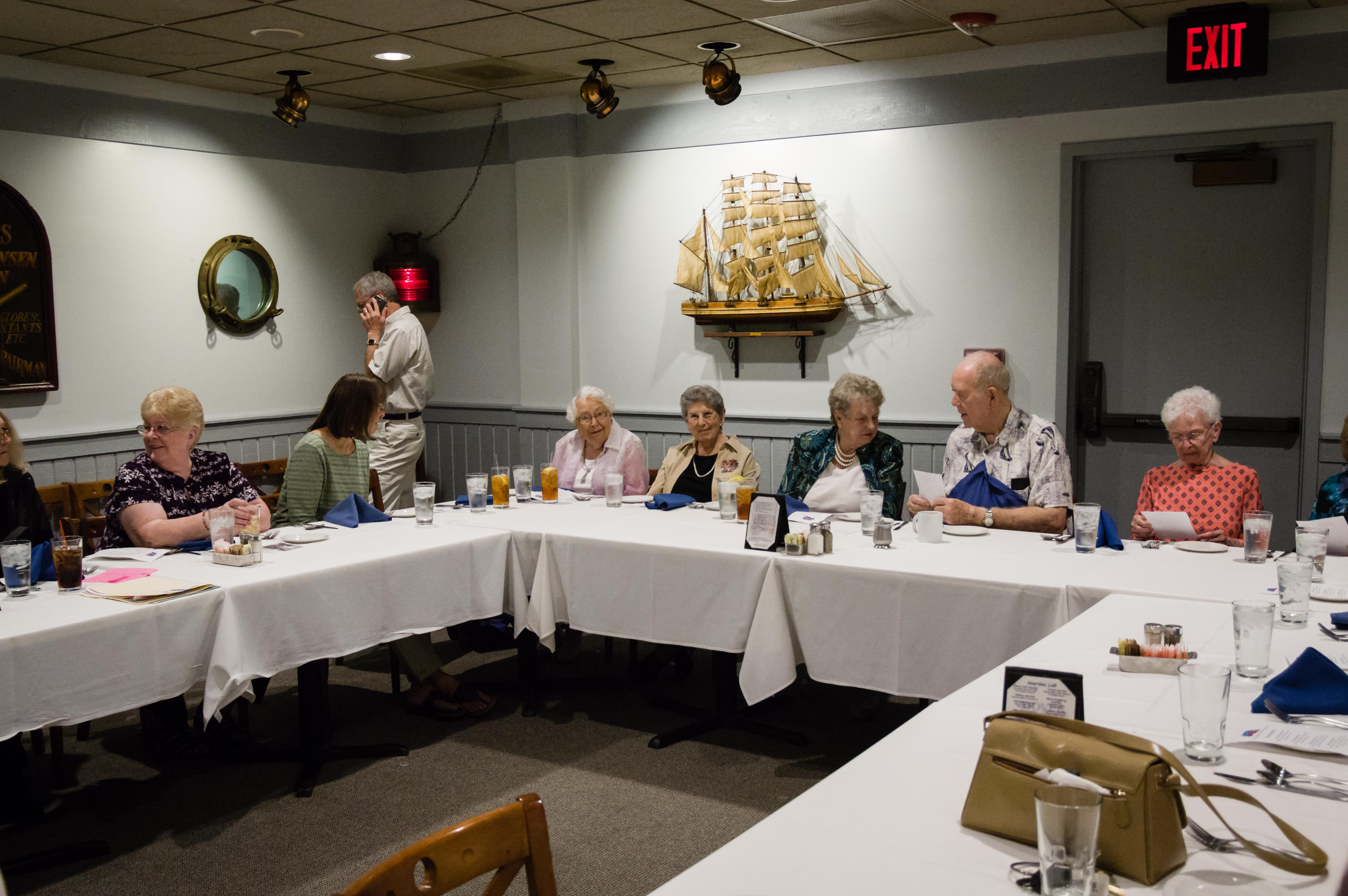 Gathered around the table for the Dorcas Circle Spring Luncheon