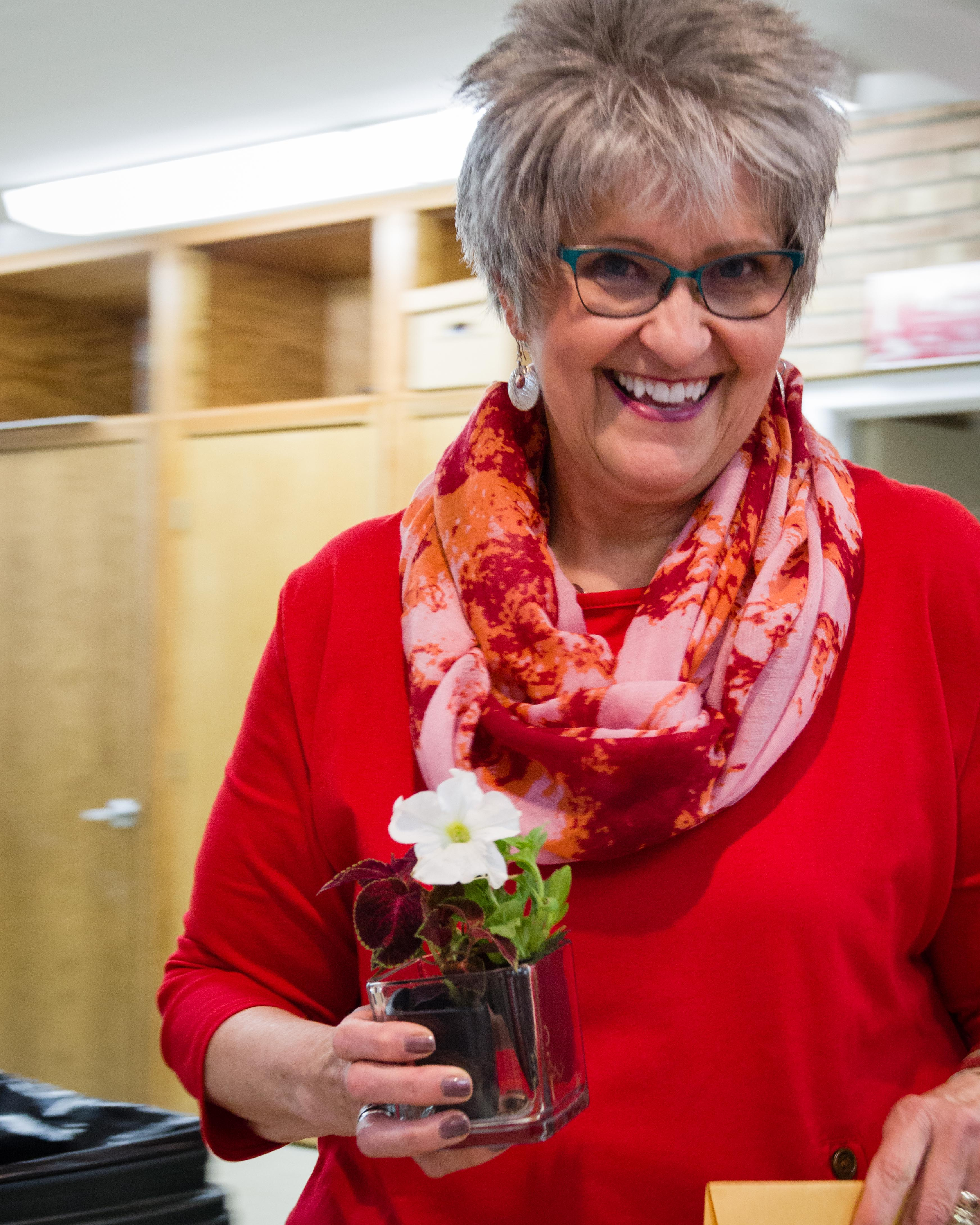 All of our teachers received flowers and a personal thank you from our kids