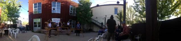 The cornerstone of the Art Walk in Gunnison - The Arts Center, featuring brilliant marimba players
