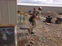JT, our forman, busts a move