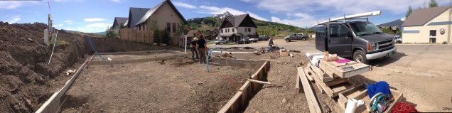 Overview of the foundation at the Mount Crested Butte site where we are about to install plumbing.