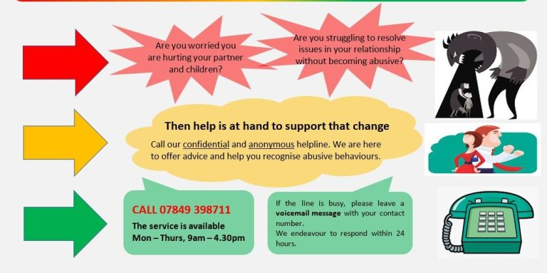"""I need help to stop"" - a helpline for perpetrators of domestic abuse"