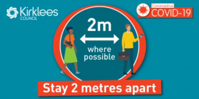 stay two metres apart where possible