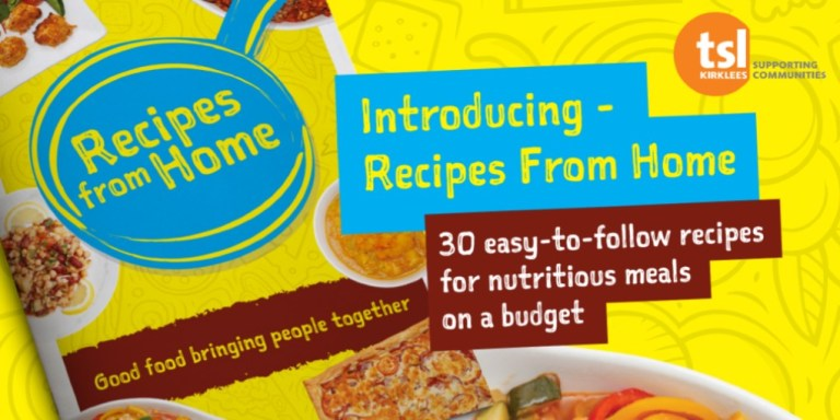 Recipes From Home cook book supporting the community