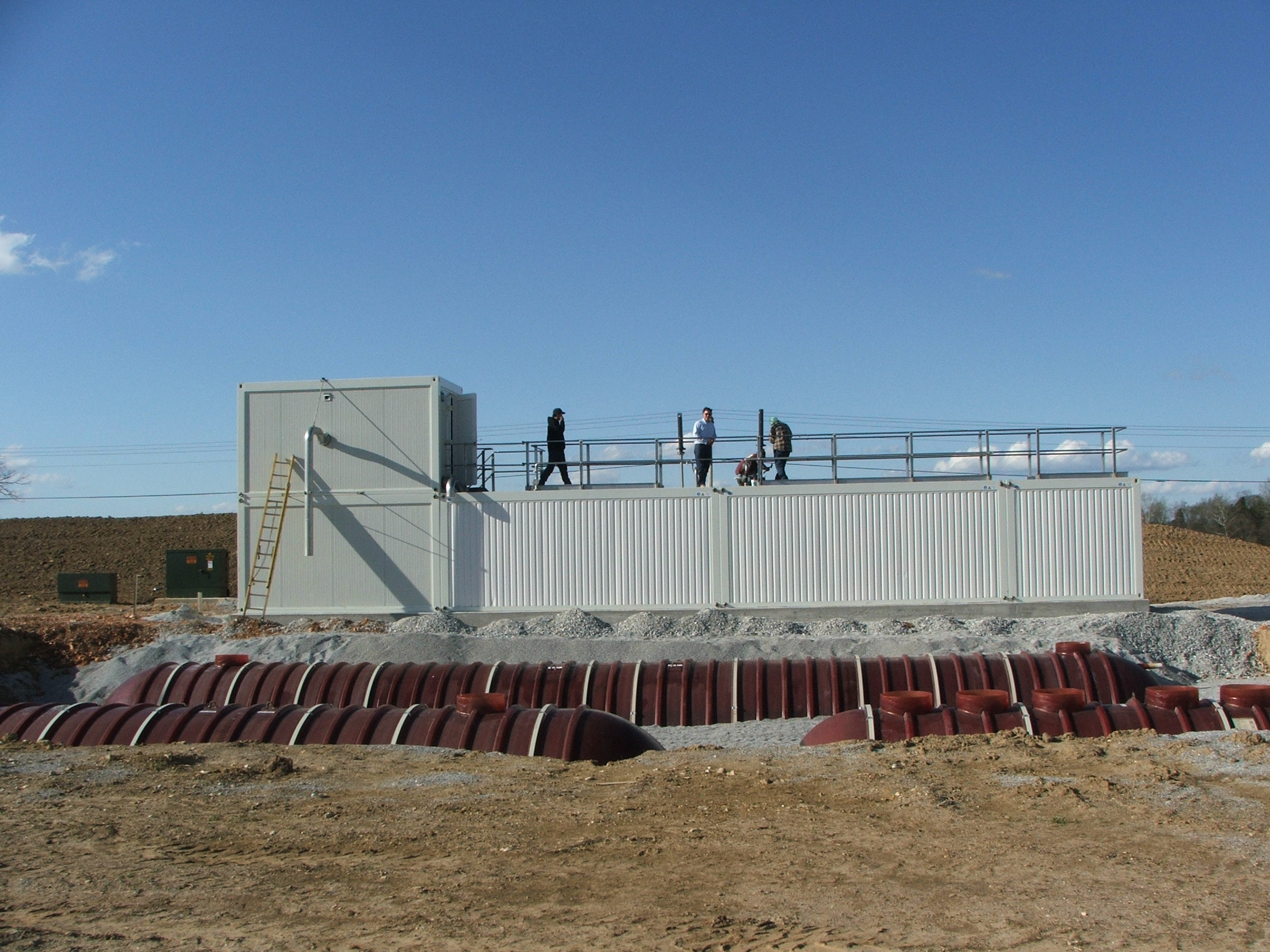 wastewater treatment package plant installation