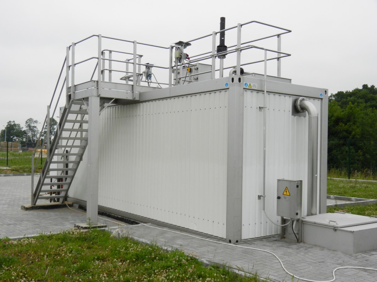 single above ground advanced treatment wastewater plant