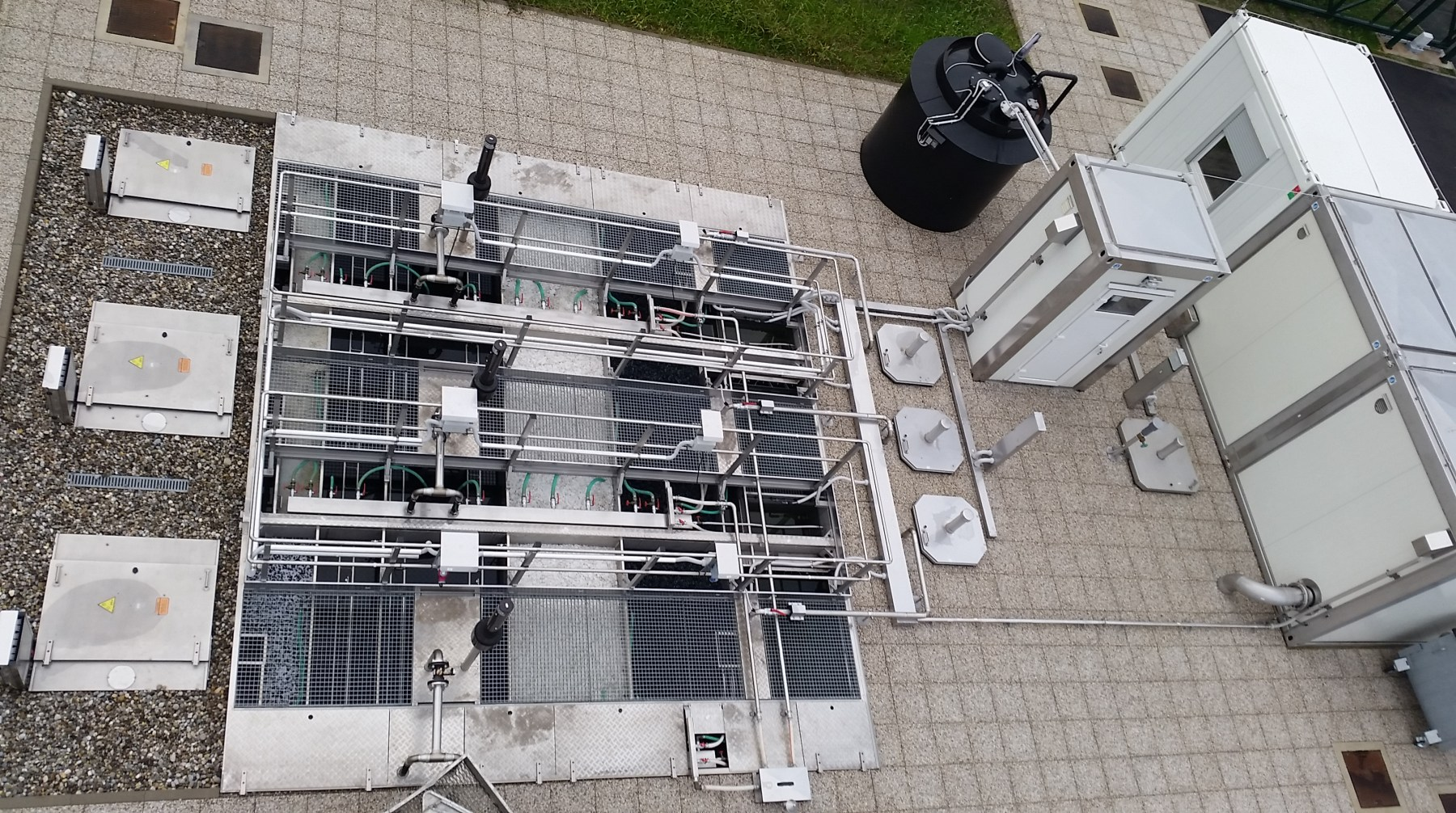 wastewater treatment system from above