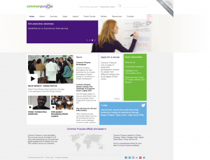 Screenshot of Common Purpose website