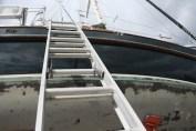 Image result for image ladder on boat in boat yard