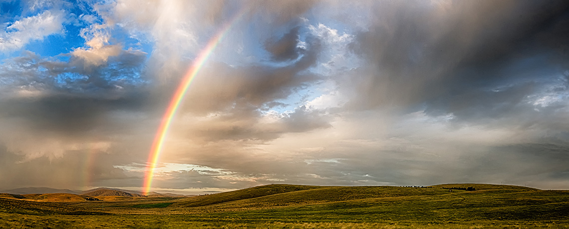 Rainbow is a sign of God's mercy.