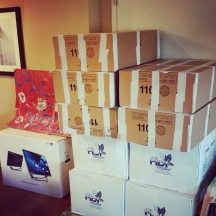 Boxes in hotel