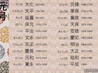 O calendário japonês - Eras japonesas