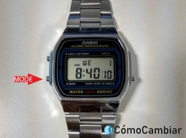 cambiar hora reloj casio