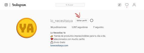 Cambiar usuario instagram