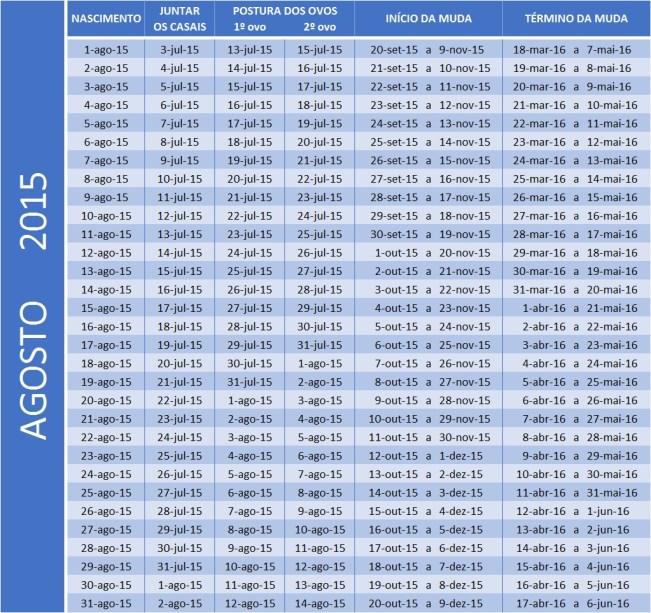 Tabela de ago 2015