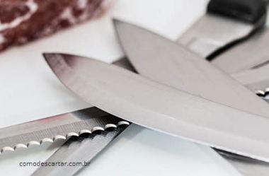 Descartar faca de cozinha, como e onde descartar