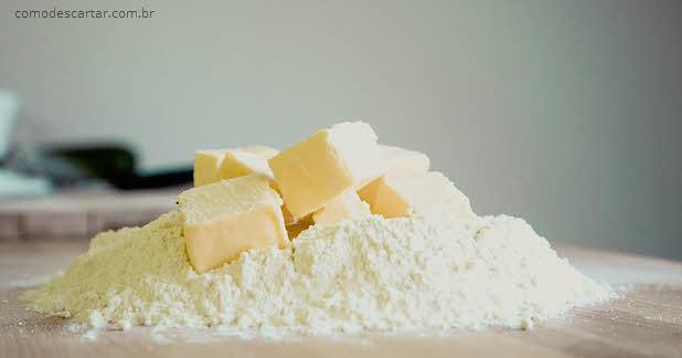 Como descartar manteiga, farinha de trigo