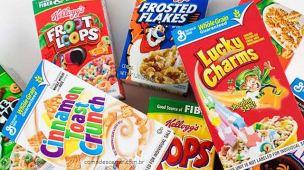 Como descartar caixas de cereal, sucrilhos