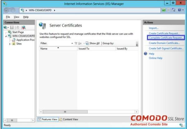 Server Certificates - SSL
