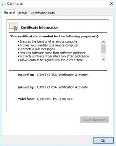 What Is Comodo Rsa Certification Authority Comodo Ssl