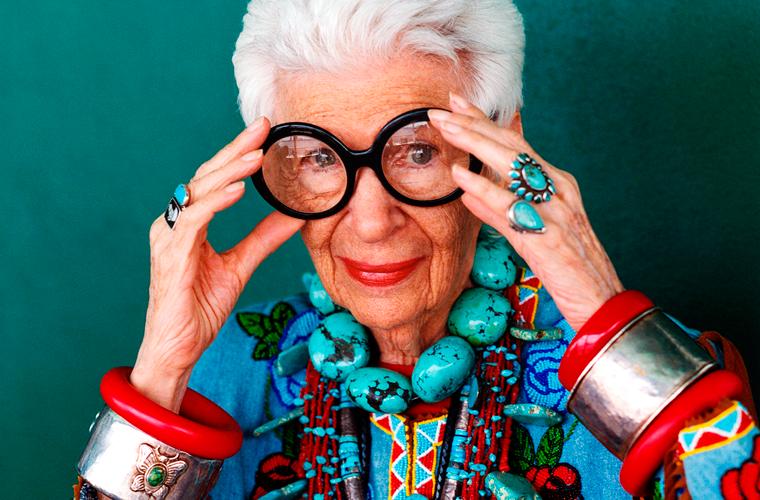 Iris Apfel - blogueira 96 anos