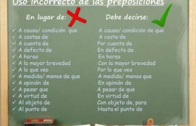 Tipos de preposiciones