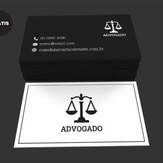 Cartão de Visita Advogado Grátis