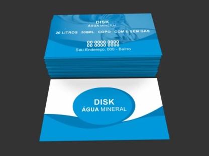 Cartão de Visita Água Mineral Modelo 02